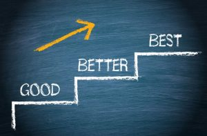 why we don't want to be the best, just better